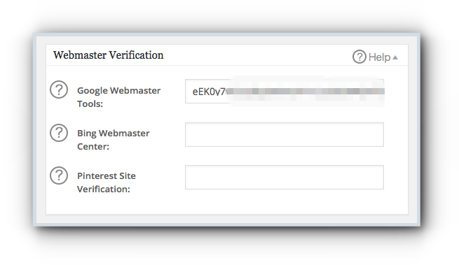 Webmaster Verification