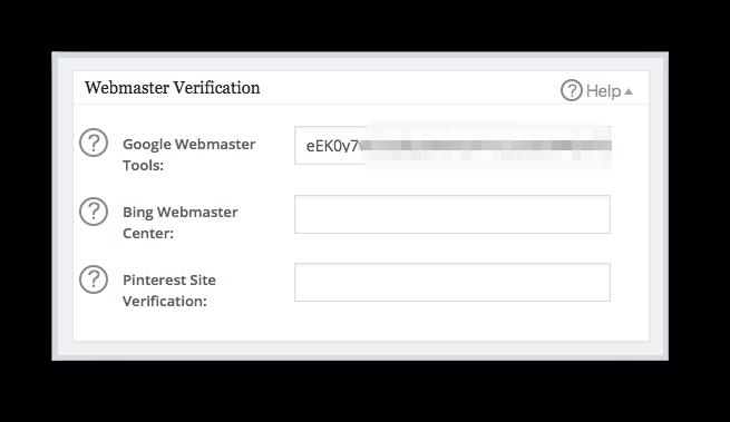 Webmaster Verification